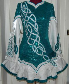 Irish dance solo dress. if my life went this way. thats what i would wear.