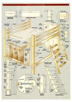... Free Bunk Bed Plans on Pinterest | Bunk bed plans, Bunk bed and Twin