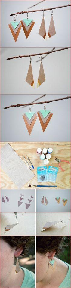 DIY Wood Earrings Two Ways