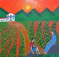 Conversa nos laranjais- Pintura (Acrílica) - Juliano Silva