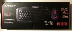 LIGER Back-Lit LED Multimedia USB Gaming Keyboard and Mouse
