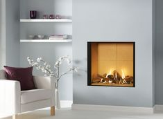 When it comes to buy a new gas fire, you need to ensure which type you would prefer. It all depends on the type of chimney you have at your place. Inset Fireplace, Stove Fireplace, Modern Fireplace, Fireplace Wall, Fireplace Surrounds, Fireplace Design, Fireplace Ideas, Wall Fireplaces, Classic Fireplace