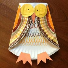 http://huppiemama.com/fall-kids-craft-paper-plate-owl/: