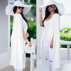 2017 New Women Cloak Suit pure color Long Cape fashion Jacket Trench Blazer Suit Jackets For Women, Capes For Women, Blazers For Women, Clothes For Women, Women Blazer, Blazer Outfits Casual, Blazer Fashion, Fashion Cape, Dress Outfits