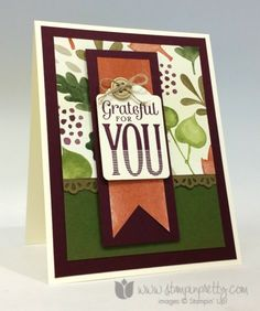 merry everything stamp note card punch fall autumn holiday card ideas