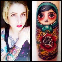 Tattoo Matryoshka, babushka