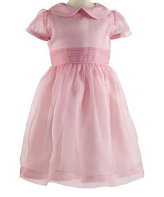 Look at this #zulilyfind! Pink Pin Tuck Silk Dress - Toddler & Girls #zulilyfinds