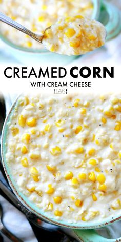 An easy, Southern Creamed Corn with Cream Cheese made fast on the stovetop with milk, and fresh or frozen corn. The perfect potluck side dish for family gatherings, holidays, and BBQ's! Cream Cheese Corn, Potluck Side Dishes, Creamed Corn Recipes, Vegetable Casserole, Frozen Corn, Family Gatherings, Beef Dishes, Vegetarian Cheese, Side Dish Recipes
