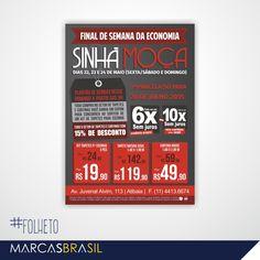 Folheto – Sinhá Moça > Desenvolvimento de folheto impresso em duas cores para a loja Sinhá Moça < #folheto #marcasbrasil #agenciamkt #publicidadeamericana