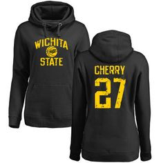 Wichita State Shockers Women's Personalized Distressed Basketball Pullover Hoodie - Black