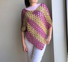 Items similar to Easy Crochet Pattern - Zebra Poncho on Etsy Crochet Scarf Easy, Crochet Wrap Pattern, Crochet Amigurumi Free Patterns, Easy Crochet Patterns, Crochet Shawl, Crochet Top, Crochet Summer, Irish Crochet, Crochet Sweaters