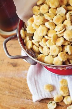 Ranch Oyster Crackers. #appetizer #snack