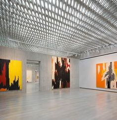 perforated concrete ceiling: Clyfford Still Museum by Allied Works Architecture (Denver, Colorado)