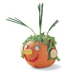 DIY Halloween : DIY Veggie Head Pumpkins Decoration