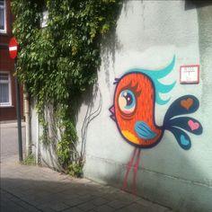 Aww - cute street art!