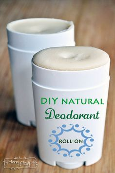 DIY All Natural Deodorant - Roll On and Non-Toxic Recipe - with no toxic aluminum anywhere to be found!