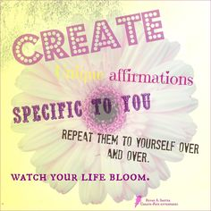 Create-Fate Enterprises This is something I am doing right now and I thought you might want to try it too. I am writing very specific affirmations for things I want to have happen in the future and then repeating them over and over. heart emoticon heart emoticon Simple practice and yet can be very powerful. It works!! They sure do.  When your reading your affirmation, pay attention to how you feel because whatever energy you send out is real and ca