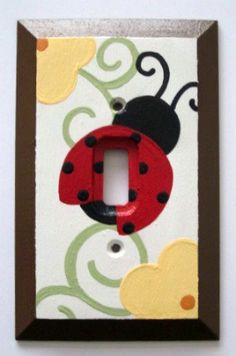 Ladybug Light Switch Flowers Garden Switch just for McKenzie