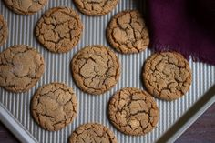 Gingersnap Cookies — Cooking with Cocktail Rings