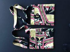 Handmade vintage fabric barkcloth bags from Olde Favorites