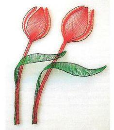 Bobbin lace pattern  http://www.lokk.nl/gratispatronen/tulp.php