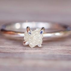 BACK IN STOCK BABES    White Raw Diamond Ring    ethically sourced and available at www.indieandharper.com