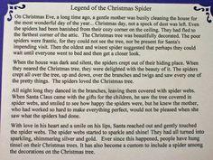 Re: Christmas Spider Legend -- jacksmum, 23:50:43 10/18/05 Tue [1 ...