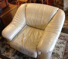 Beige leather chair by newleafgalleries, via Flickr