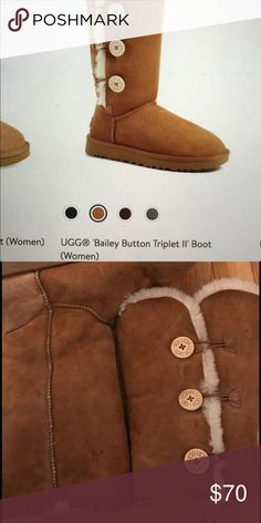 Uggs chestnut color Baily button Uggs have been worn UGG Shoes Winter & Rain Boots