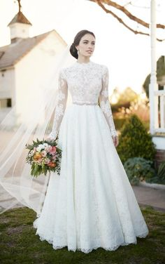 Jude + Sander Romantic lace wedding separates by Martina Liana Wedding Dresses