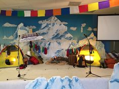 Everest VBS decorations - main stage