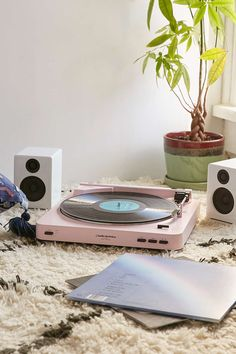 I love my record player but now wish it was pink! Audio-Technica X UO Vinyl Record Player Pink Record Player, Lp Player, Record Players, Modern Record Player, Record Player Urban Outfitters, Décor Antique, Turntable, Vinyl Records, Cleaning Wipes