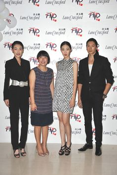 Vogue China editor Angelica Cheung and supermodels at #FNO Beijing.