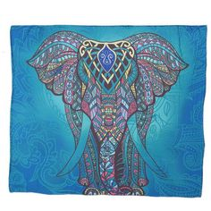 Let this mandala elephant walks through your salon spreading mandala symbols along the way! This trending wall tapestry has got all the delicate of a flower, driven by the wisdom elephant symbol of India. Both animal and mandalas are parts of the universa Mandala Indio, Mandala Azul, Mandala Design, Elephant Bleu, Elephant Wall Art, Indian Elephant, Elephant India, Elephant Shower, Tapestry Beach
