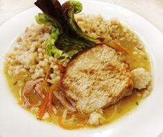 Denné menu Vranov | Bravčový steak preliaty šunkovo-zeleninovým prelivom, tarhoňa - reštaurácia Hotel Patriot*** #hotel #restauracia #dennemenu