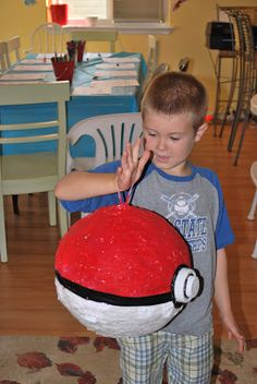 This year Isaac wanted to have a Pokemon themed birthday party. So here's the recap of the party...(by the way this Pokemon thing is all new...