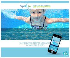 Sito web realizzato per aquaclubcondino il nuovo Centro Aquatico in Valle del Chiese