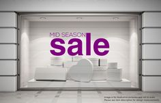 MID SEASON SALE Shop Window Sticker Retail Display Decoration Vinyl Decal