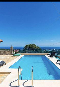 #villa #villas #summer #apartement #holidays #beach #greece #crete #sun Crete Holiday, Greek Island Hopping, Next Holiday, Heated Pool, Private Pool, Luxury Villa, Greek Islands, Mykonos, Villas