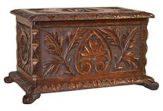 Antique English  Carved  Box on OneKingsLane.com