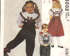 Check out Children's Blouse, Pants In Two Lengths, Skirt Size 2 Vintage McCall's Sewing 6202 on attictreasuresbyjudy