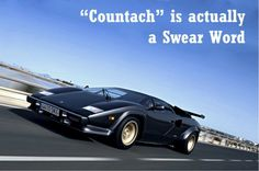 Countach is a naughty swear word! Click to find out what it means... #Lamborghini #spon