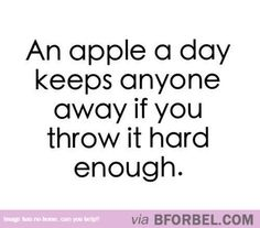An Apple A Day Keeps Anyone Away… @dixierella1998