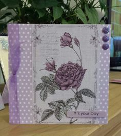 Art Fabric Note Cards by Craftwork Cards. Created by Jane Compton