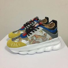 no box and size 42 men sizes and 8 and heel to toe. Versace Sneakers, Versace Shoes, Shoes Sneakers, Versace Versace, Shoes Men, Marley Twist Hairstyles, Versace Chain, Chain Reaction, Casual Shoes