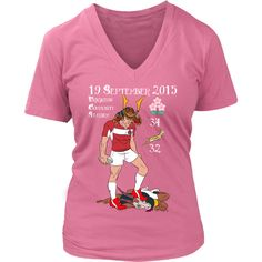 Rugby World Cup 2015 - Japan's Triumph - Women's V I Love My Hubby, My Love, Rugby World Cup, Sailor, V Neck, Japan, Mens Tops, Shirts, Products