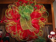 mesh wreaths | Deco Mesh Wreath | Christmas items