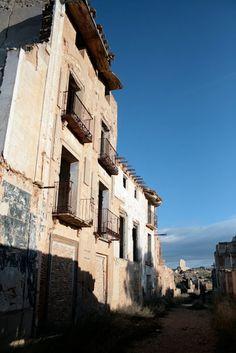 Belchite city ruins, Belchite, Zaragoza, Spain