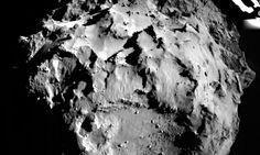 Image of the comet 67P/Churyumov-Gerasimenko taken during Philae's descent