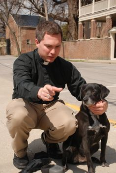 """Casey! Look at her. C'mon Casey!"" -Rev. Joe Mitchell and Casey the dog"